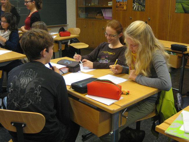 Schreibwerkstatt in der Sekundarschule