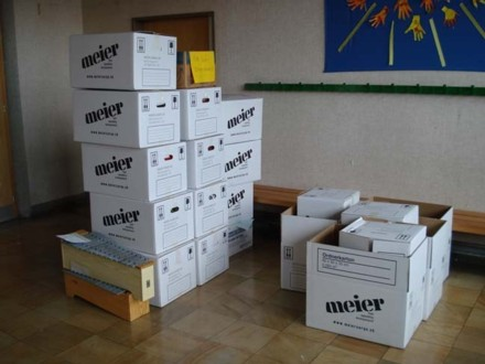 120 Umzugskarton wurden gefüllt