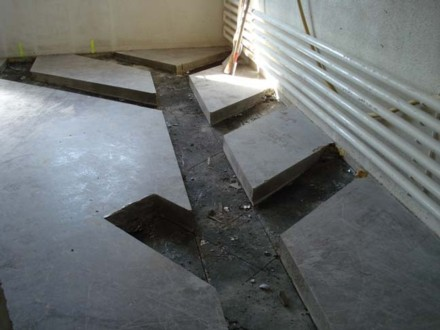 Hier entstehen die neuen sanitären Einrichtungen im UG
