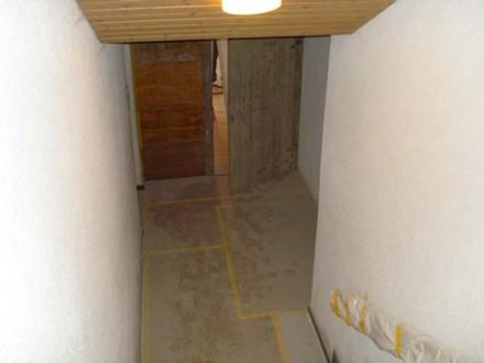Zugang zur Baustelle im Untergeschoss Schulhaus Hagacher